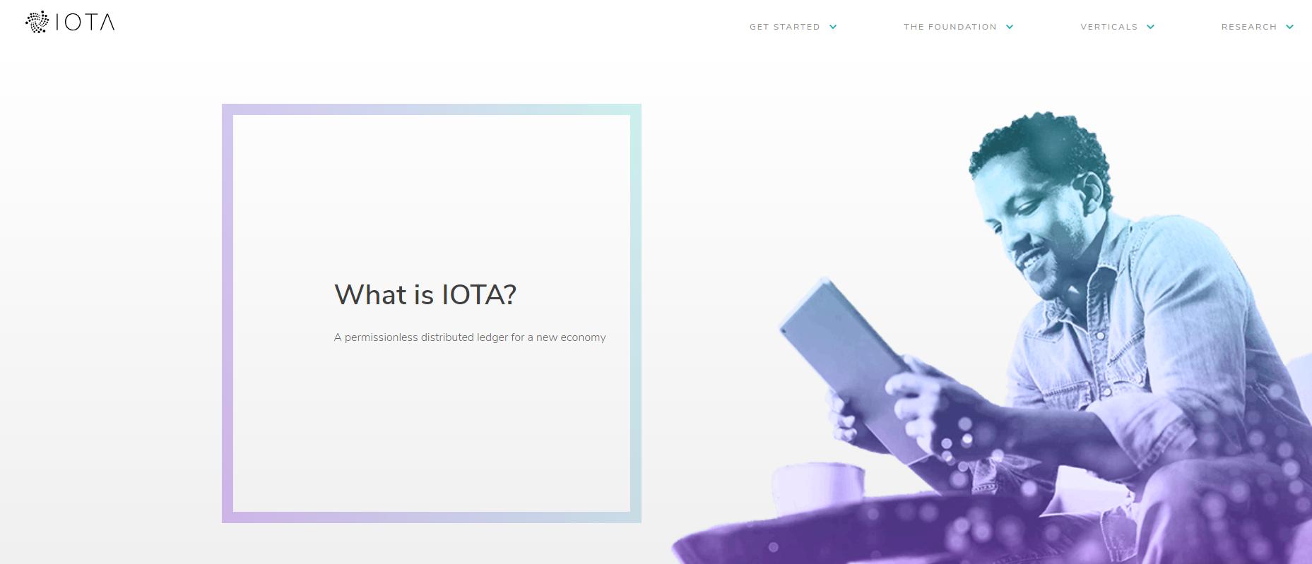 Screenshot: iota.org