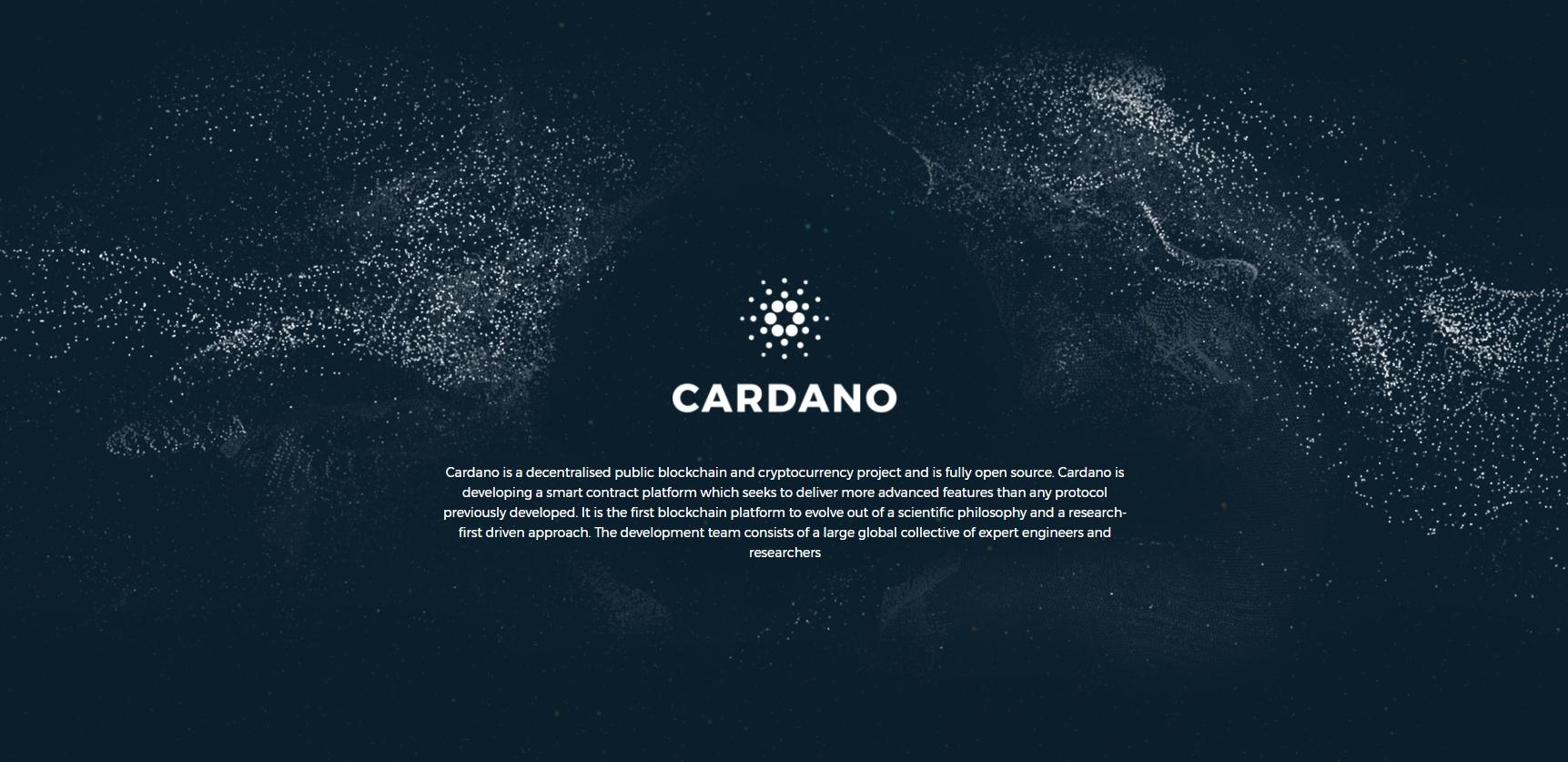 Screenshot cardano.org