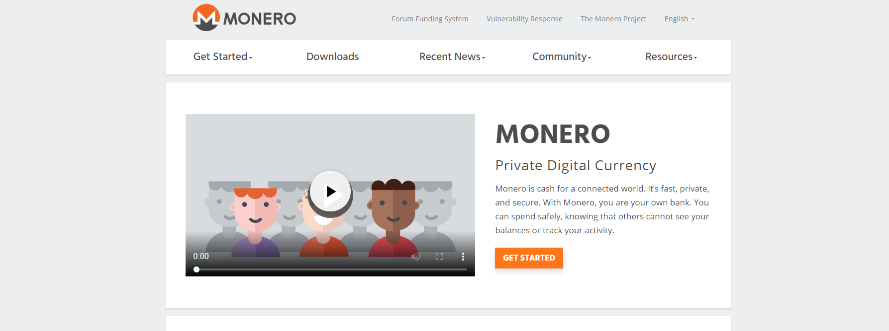 Screenshot: https://getmonero.org