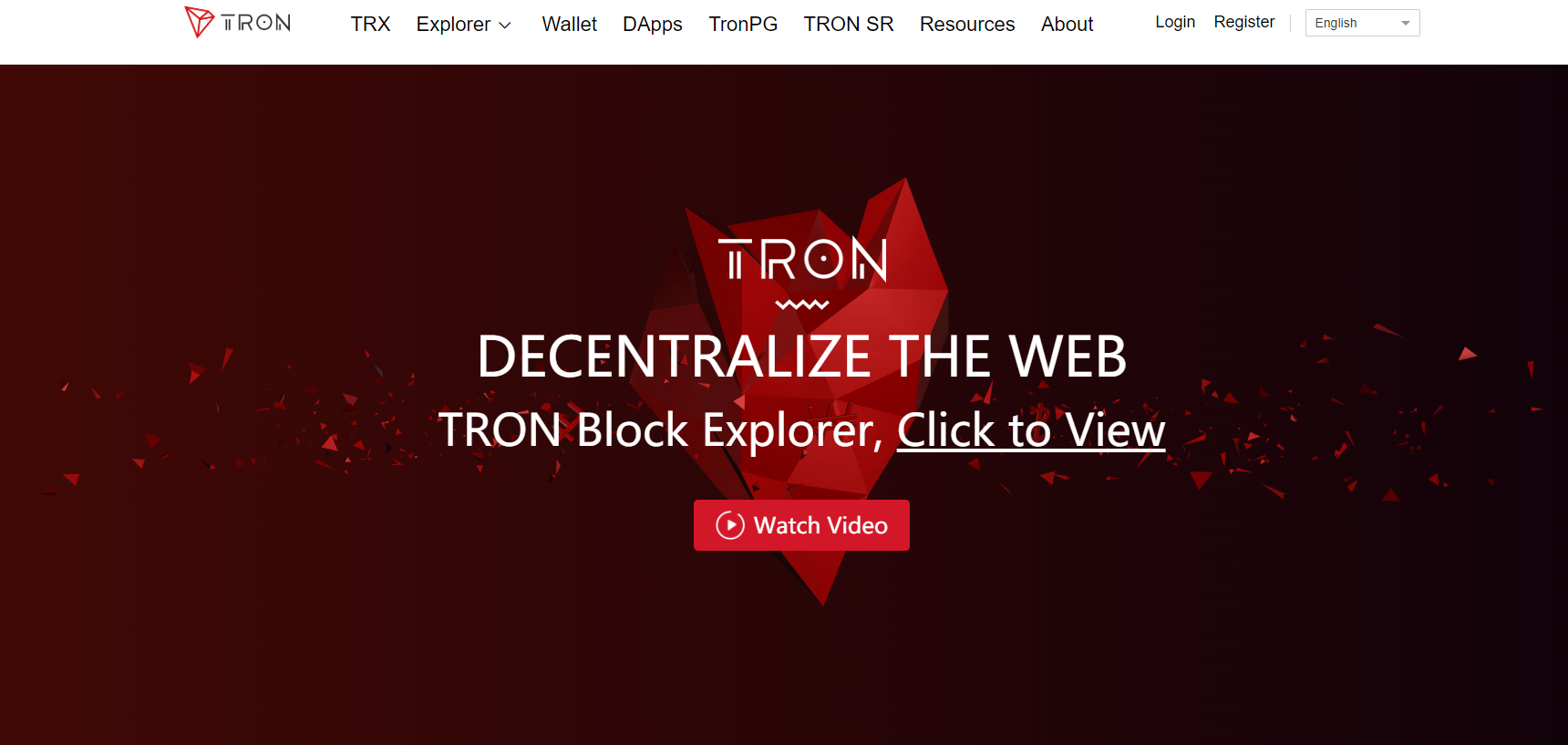 Screenshot: tron.network
