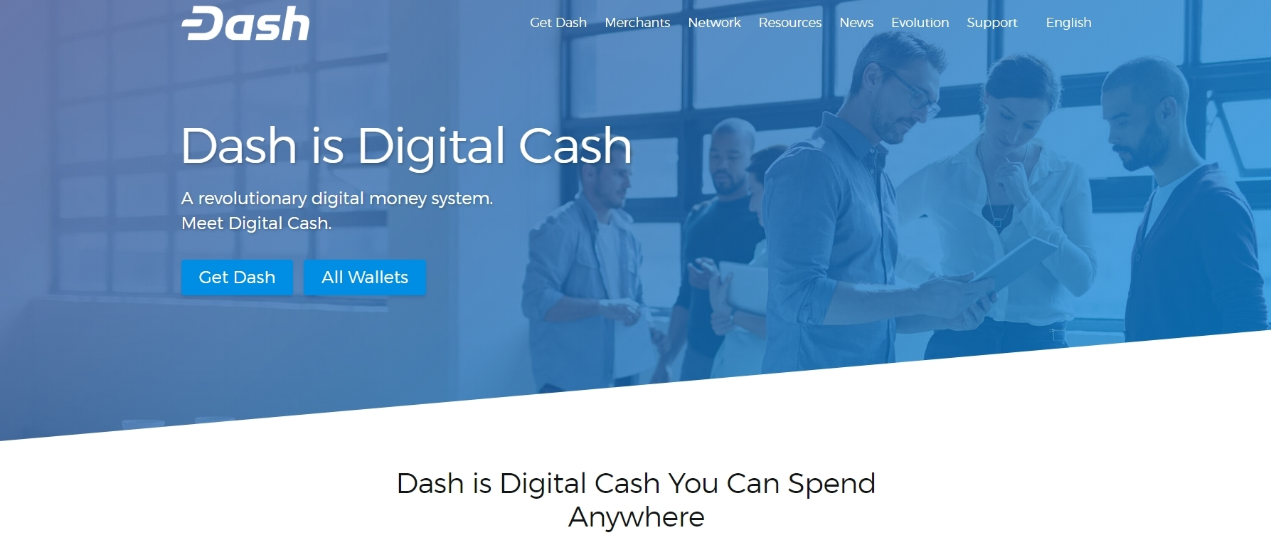 Screenshot: dash.org