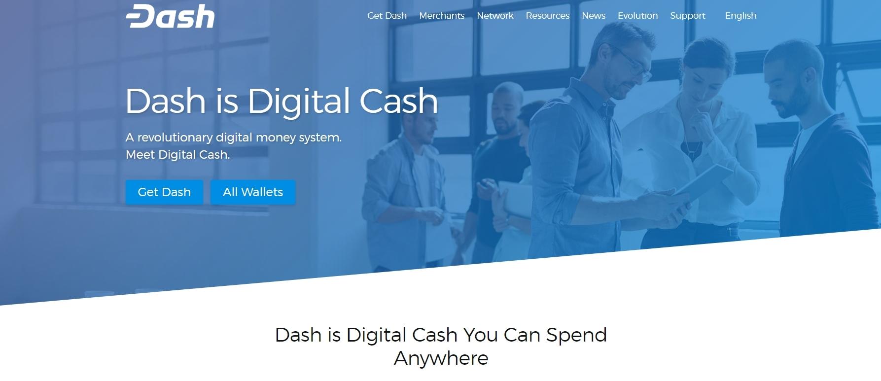 Screenshot: dash.org